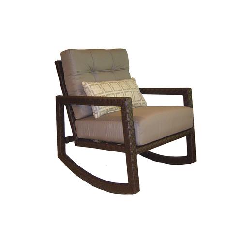 Wicker Allen Roth Lawley Patio Rocking Chair & Side Table