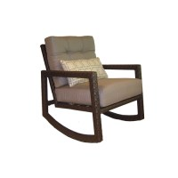 Wicker Allen Roth Lawley Patio Rocking Chair & Side Table