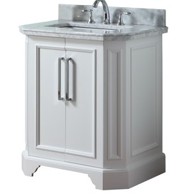 allen + roth Delancy White Undermount Bathroom Single Sink Vanity with Natural Marble Top (Common: 31-in x 21-in; Actual: 31-in x 21.75-in)