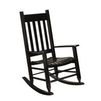 Shop Garden Treasures Black Wood Slat Seat Outdoor Rocking ...