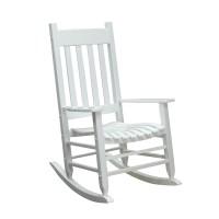 Shop Garden Treasures White Wood Slat Seat Outdoor Rocking ...