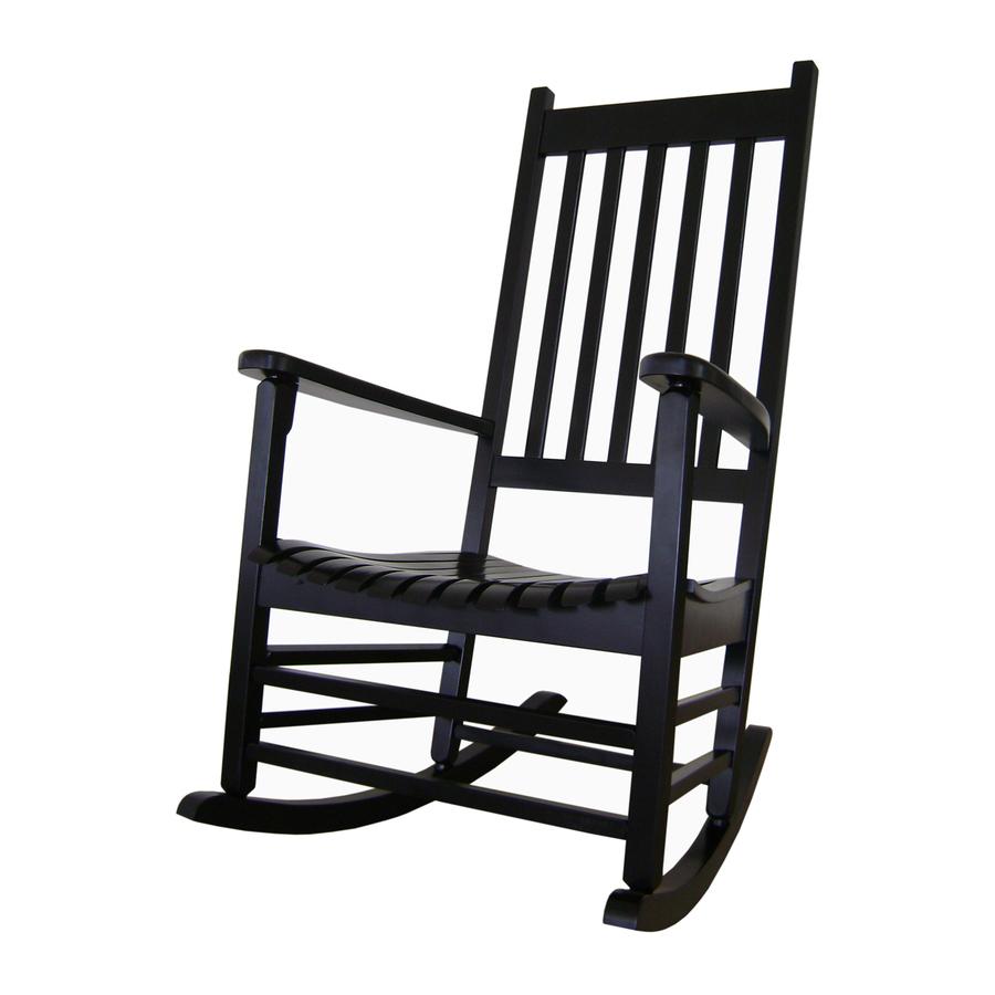 Shop International Concepts Black Wood Slat Seat Outdoor