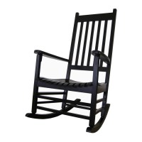 Shop International Concepts Black Wood Slat Seat Outdoor ...