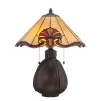 Shop Portfolio 19.38-in Bronze Tiffany-Style Indoor Table ...