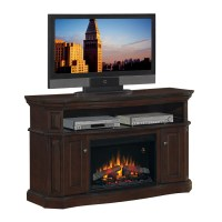 "Shop Chimney Free 60"" Walnut Electric Fireplace at Lowes.com"