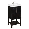 24-in Rustic Oak Foley Single Sink Bathroom Vanity with Top