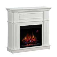 Shop Chimney Free 41-in White Electric Fireplace at Lowes.com