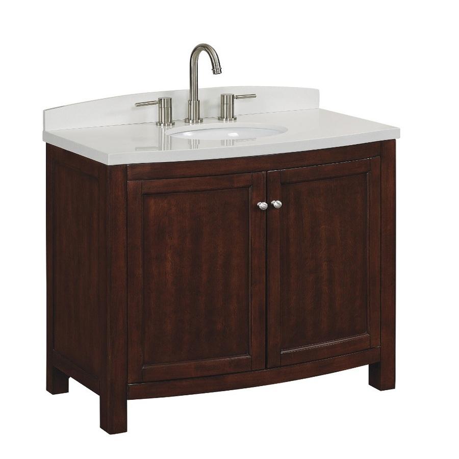Shop allen  roth Moravia Sable Undermount Single Sink Bathroom Vanity with Engineered Stone Top