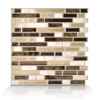 Shop Smart Tiles White, Beige, Brown Composite Vinyl ...
