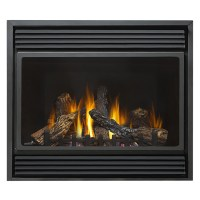 Shop 36-in Direct Vent Black Corner Natural Gas Fireplace ...