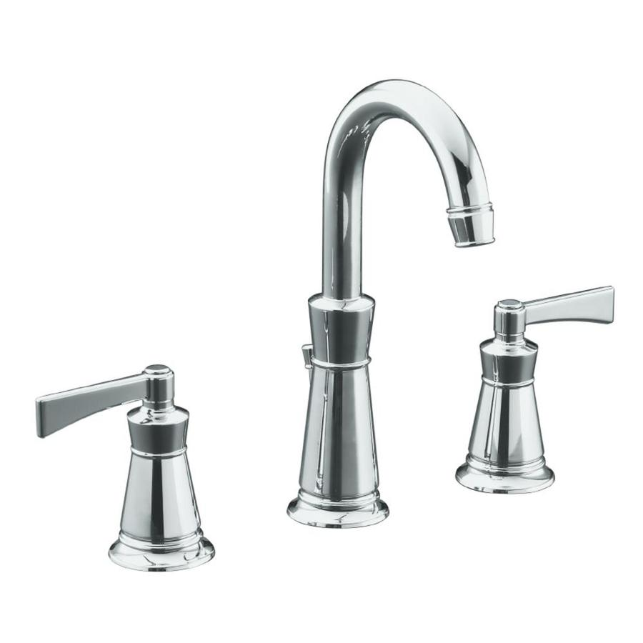 Shop KOHLER Archer Polished Chrome 2Handle Widespread WaterSense Bathroom Sink Faucet Drain
