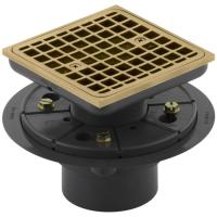 Shop KOHLER 1.25-in Dia Gold Brass Shower Drain at Lowes.com