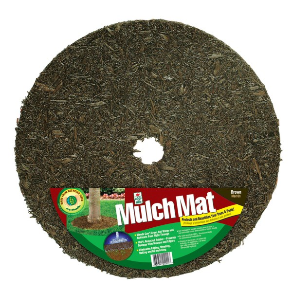 Perm-mulch Rubber Mulch 2-ft Brown Tree Ring