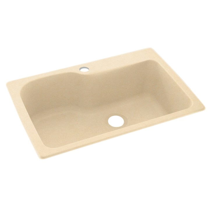 Swanstone Single Basin Drop Undermount Composite Kitchen Sink