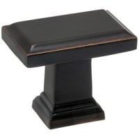 Shop allen + roth Bronze Rectangular Cabinet Knob at Lowes.com
