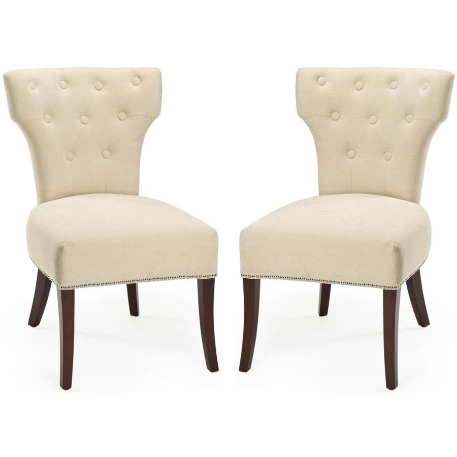 Shop Safavieh Set of 2 Mercer Cream Accent Chair at Lowescom