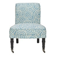 Shop Safavieh Mercer Blue Accent Chair at Lowes.com