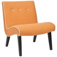 Shop Safavieh Mercer Orange Accent Chair at Lowes.com