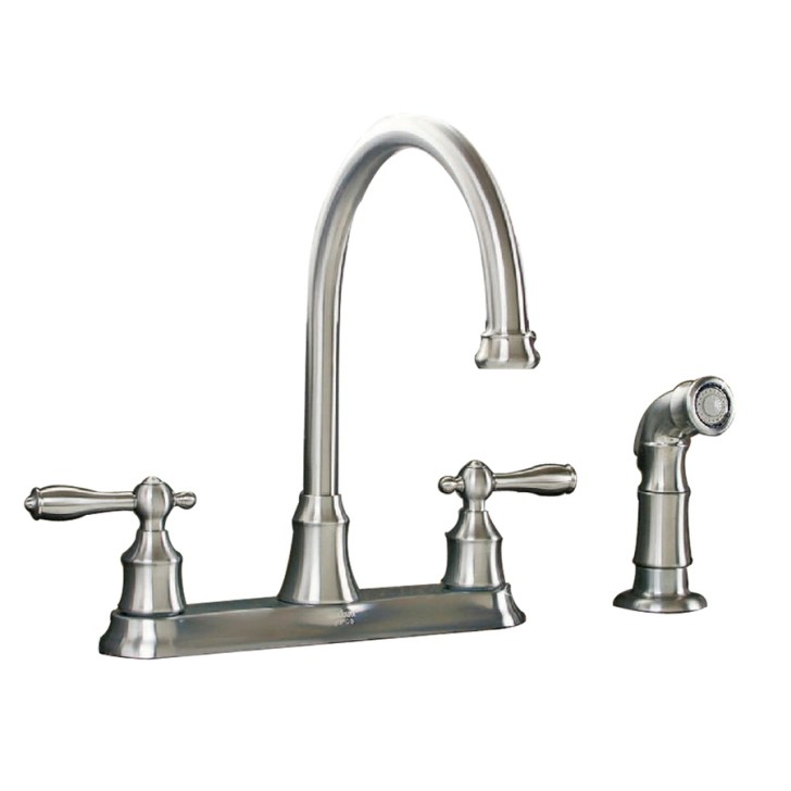 Shop Aquasource Stainless Steel Pvd Handle High Arc Kitchen Faucet