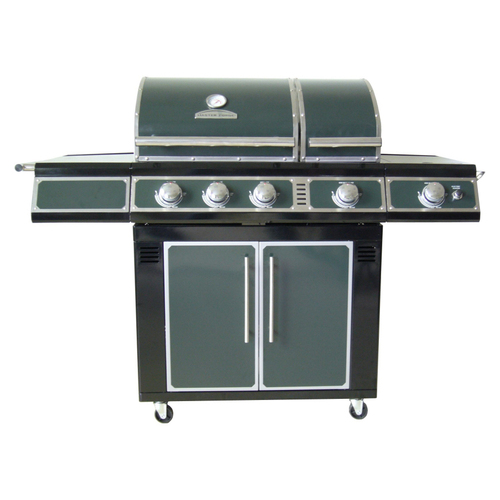 Zoomed: Master Forge 4-Burner Green LP Gas Grill
