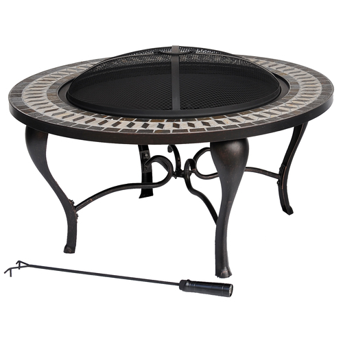 Allen Roth Steel Wood Burning Fire Pit at Lowes Fire Pits
