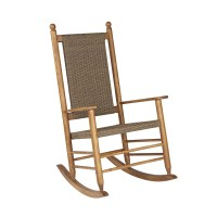 Shop Garden Treasures Natural Wicker Mesh Seat Outdoor