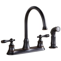 Shop AquaSource Oil-Rubbed Bronze 2-Handle High-Arc ...