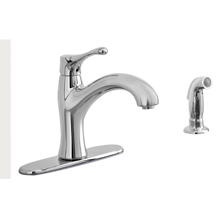 Shop Aquasource Polished Chrome Low Arc Kitchen Faucet Side Spray