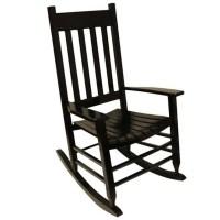 Shop Garden Treasures One Painted Black Wood Slat Seat ...