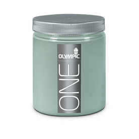 Olympic 8-oz Aqua Smoke Interior Satin Paint Sample