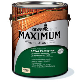Olympic Maximum Canyon Brown Semi-Transparent Exterior Stain (Actual Net Contents: 128-fl oz)