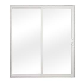 reliabilt in clear glass white vinyl sliding patio door