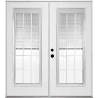 Shop ReliaBilt 71.375-in Blinds Between the Glass Steel ...