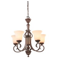 Shop Portfolio Colton Lakes 5-Light Oil Rubbed Bronze ...