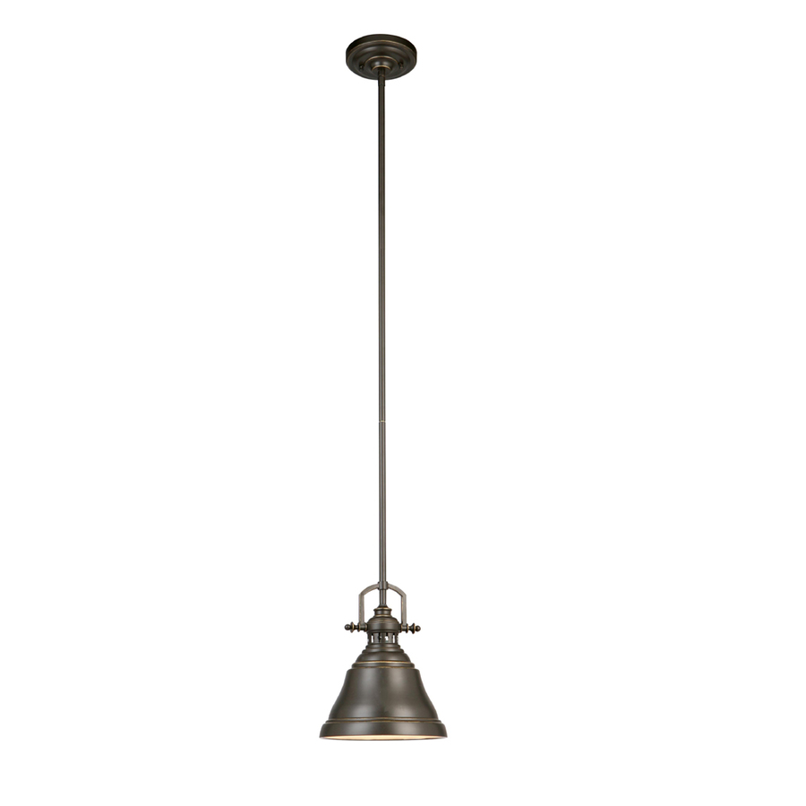 Shop allen  roth 8in W Bronze Mini Pendant Light with