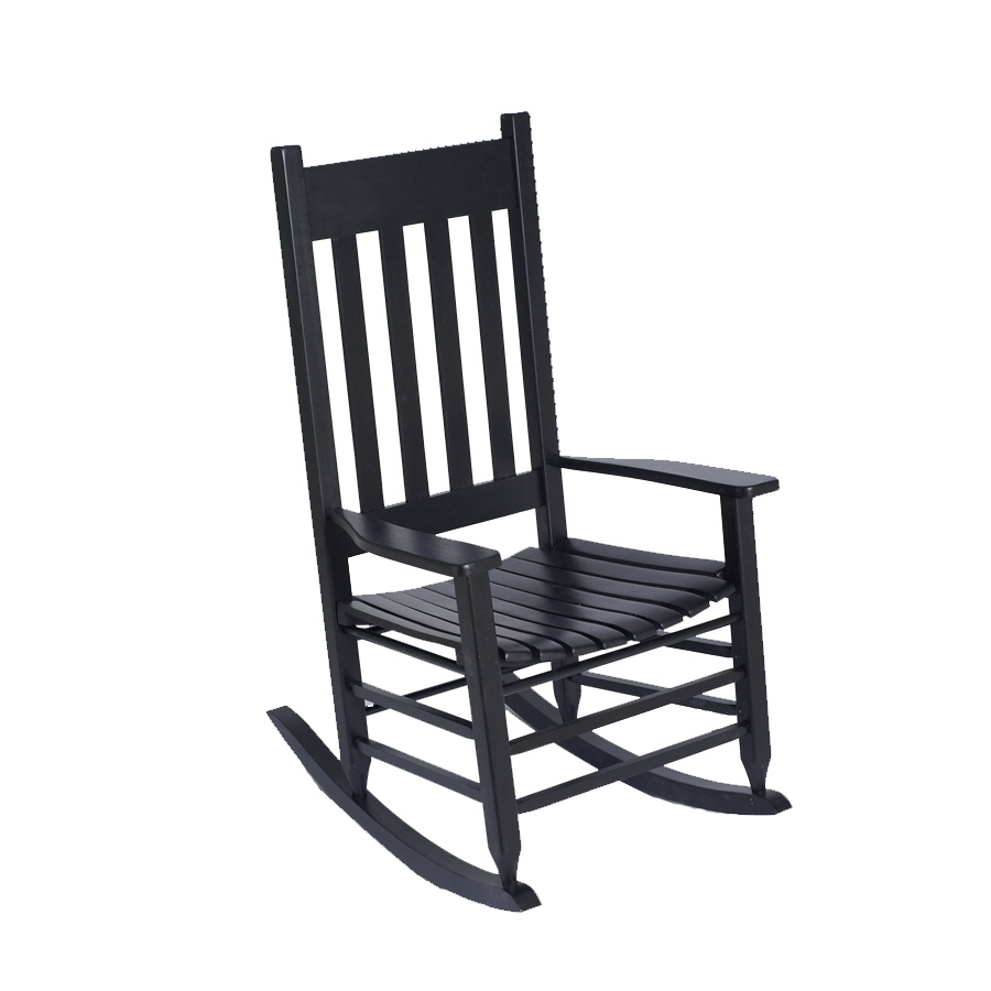 Wooden Rocking Chairs Lowes  Shop Alpine White Wood Slat