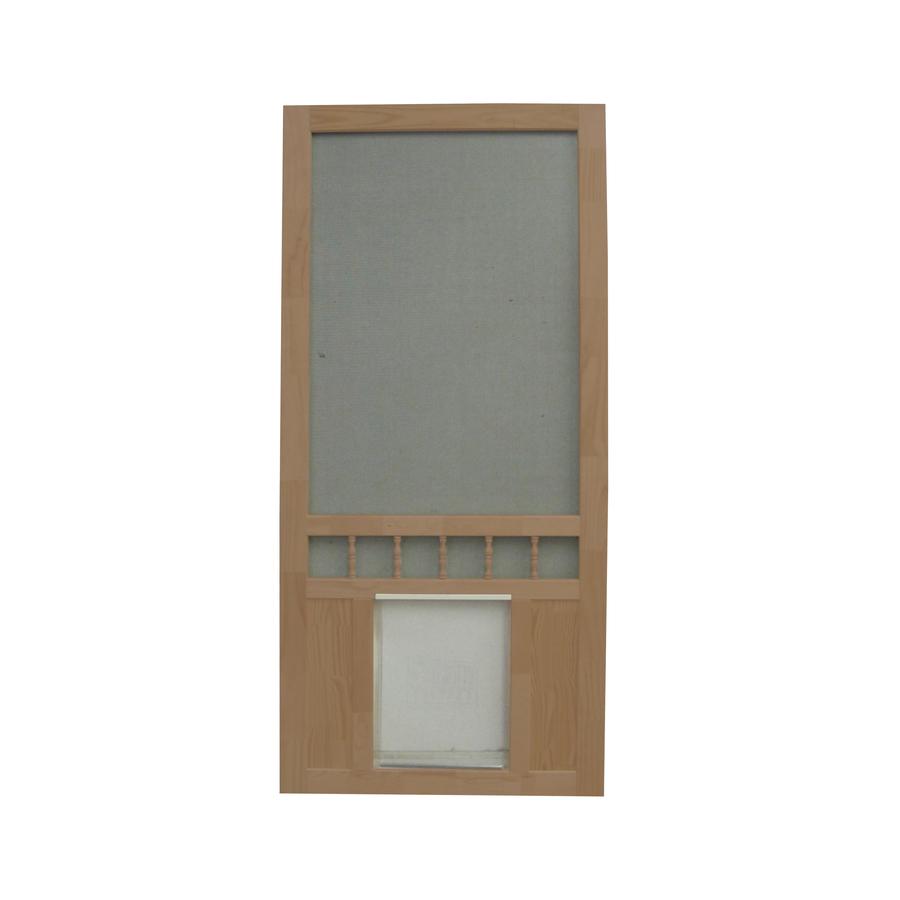 Image Result For Screen Door With Dog Door Built In Lowes