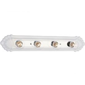 Bel Air Lighting 4-Light White Ceramic Traditional Vanity Fixture