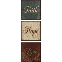 "Shop 6"" x 18"" Faith Hope Love Plaques Framed Wall Art at ..."