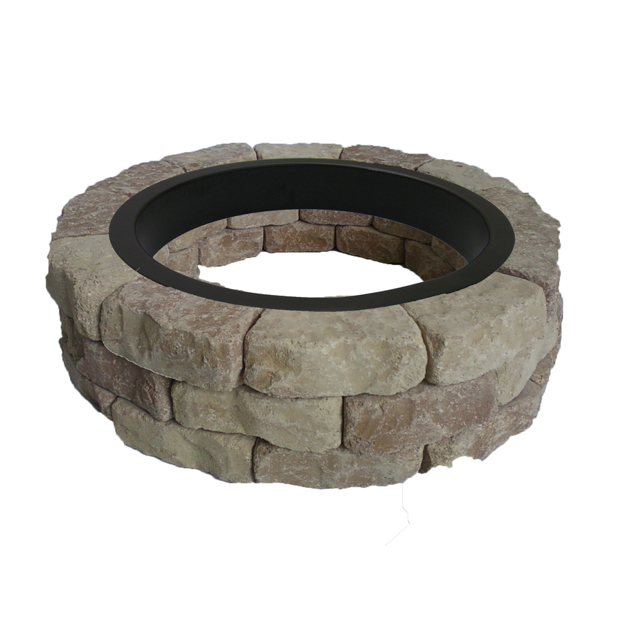 Shop allen  roth SandBeige Flagstone Fire Pit Patio