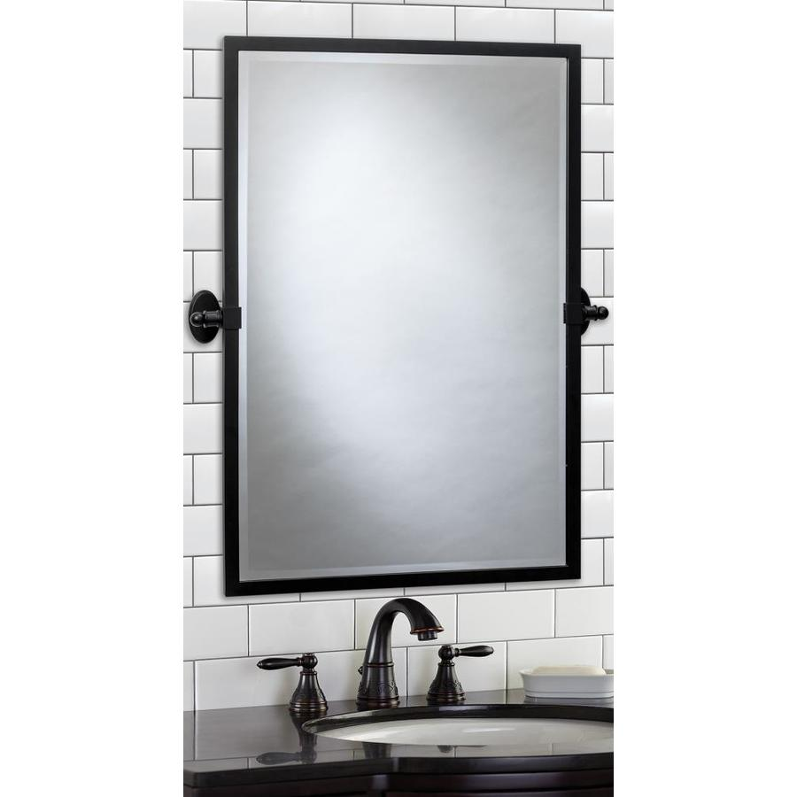 Giagni 20 In Matte Black Rectangular Bathroom Mirror In The Bathroom Mirrors Department At Lowes Com