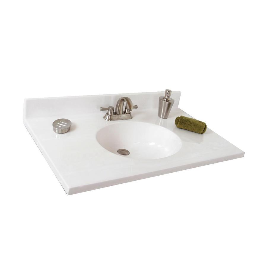 Shop Style Selections Oval White on White Cultured Marble