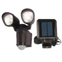 Shop Utilitech 110-Degree 2-Head Black Solar Powered LED ...