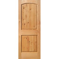 Shop ReliaBilt 2-Panel Arch Top Solid Core Non-Bored ...