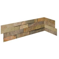 Shop Emser 6-in x 27-in Golden Sand Natural Slate Wall ...