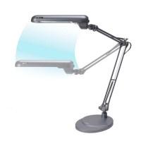 Shop OttLite 38-in Adjustable Gray Desk Lamp with Plastic ...