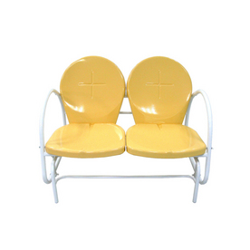 Garden Treasures Retro Yellow Double Glider