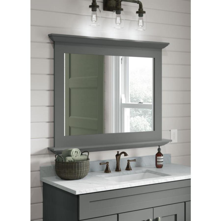 Diamond Freshfit Palencia 42 In Moonstone Rectangular Bathroom Mirror In The Bathroom Mirrors Department At Lowes Com