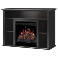 Shop Dimplex 46.5-in W Black Electric Fireplace with ...