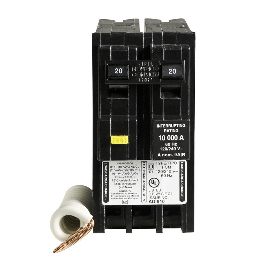 Hom220gfi Square D Ground Fault Circuit Breaker Superbreakersnet